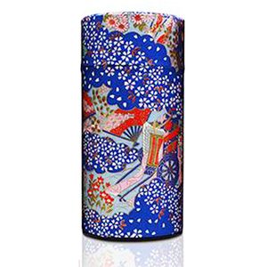 Japanese Tea Canister - Oriental Retro Blue - 200g