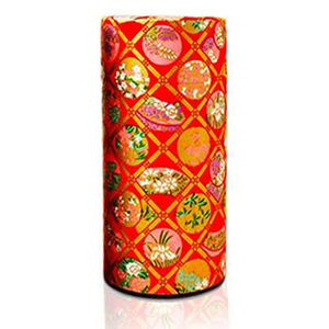 Japanese Tea Canister - Oriental Retro Red - 200g