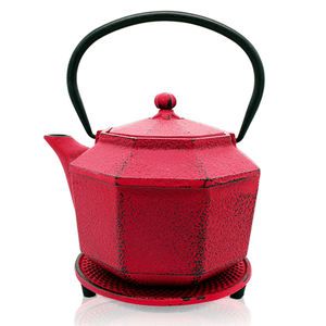 Cast Iron Teapot - Pink Polly