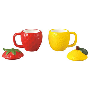 Novelty - Strawberry & Lemon Pair Of Mugs