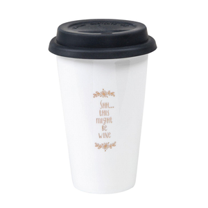 Natural Life - Ceramic Travel Mug - Shhh... Wine