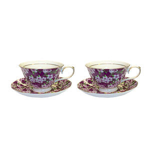KH - Violet Meadow - Cup & Saucer Set