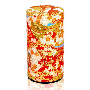 Japanese Tea Canister - Japanese Temple Red