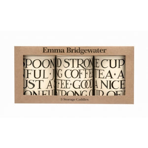 Emma Bridgewater - Black Toast - Canister Set