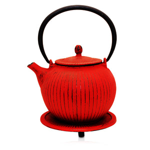 Cast Iron Teapot - Anyang Red - Red Sparrow Tea Company