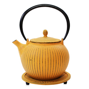 Cast Iron Teapot - Anyang Yellow - Red Sparrow Tea Company