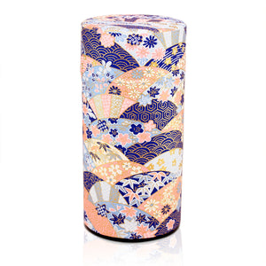Japanese Tea Canister - Garden Blue - 200g
