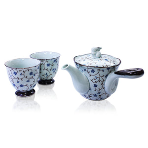 Japanese - Sabi-karakusa Blue Tea Set