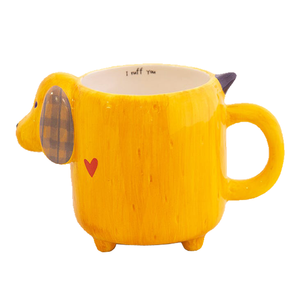 Folk Mug - Yellow Dog - I Ruff You
