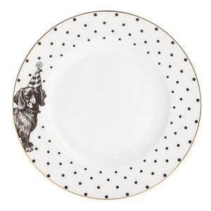 Yvonne Ellen - Monochrome Party Pup Side Plate