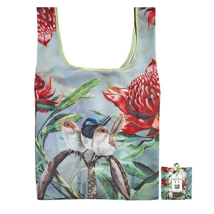 Ashdene - Australian Bird & Flora - Blue Wren Reusable Tote Bag