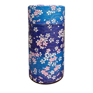 Japanese Tea Canister - Blue Blossoms - 200g