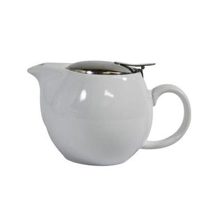 Brew Infusion Teapot - White - Red Sparrow Tea Company