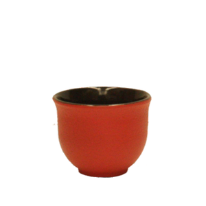 Cast Iron Cup - Red Curve