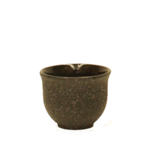 Cast Iron Cup - Rough Black Curve