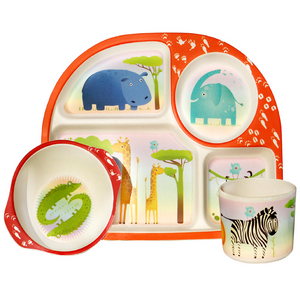 Bim Bam Boo - Kids Dinning Set - Wild Animals - Red Sparrow Tea Company