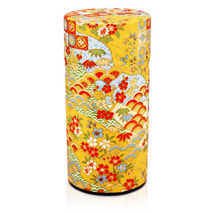 Japanese Tea Canister - Seikaiha Gold - 200g