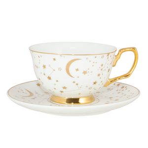 Cristina Re - Teacup & Saucer - 'It's written in the stars' - Ivory - Red Sparrow Tea Company