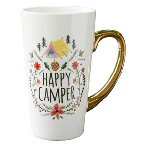 Latte Mug - Happy Camper - Red Sparrow Tea Company