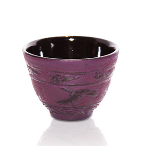 Cast Iron Cup - Flying Crane Purple - Red Sparrow Tea Company
