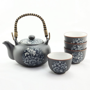 Japanese - Blue Botan Tea Set - Red Sparrow Tea Company