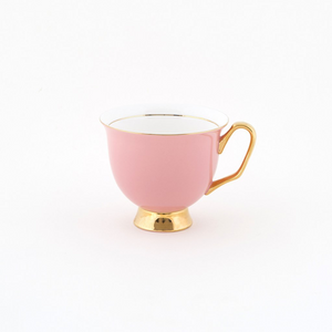 Pale Pink Teacup & Saucer XL - 375ml - Red Sparrow Tea Company
