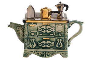 Novelty Teapot - French Stove - Red Sparrow Tea Company