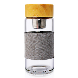 Ocha - Glass Infuser Flask - Grey - Red Sparrow Tea Company