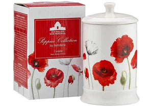 Ashdene - Poppies - Canister - Red Sparrow Tea Company