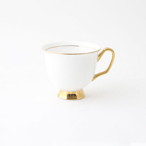 White Teacup & Saucer XL - 375ml - Red Sparrow Tea Company