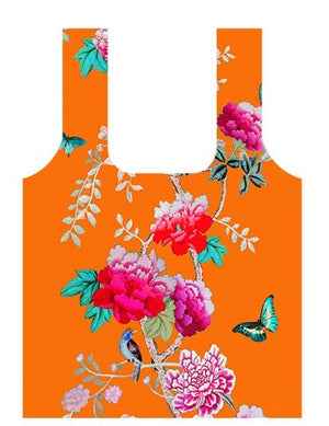 Anna Chandler - Fold Up Shopping Bag – Orange Bird - Red Sparrow Tea Company