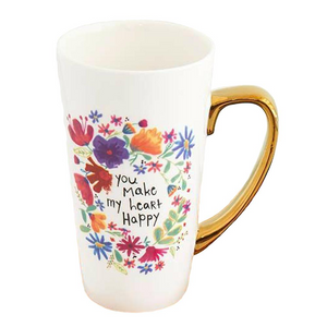 Latte Mug - You Make My Heart Happy - Red Sparrow Tea Company