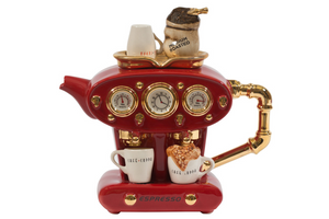 Novelty Teapot - Double Espresso - Large - Red - Red Sparrow Tea Company