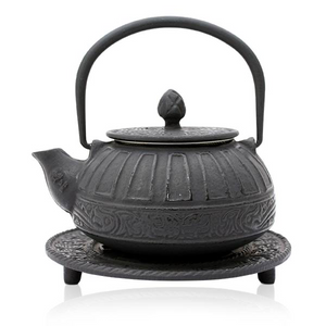 Cast Iron Teapot - Reflection Black - 400ml - Red Sparrow Tea Company