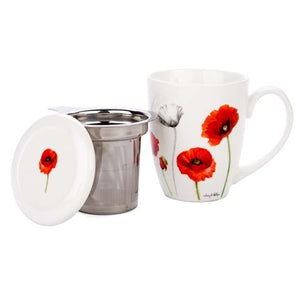 Ashdene - Poppies - Infuser Mug - Red Sparrow Tea Company