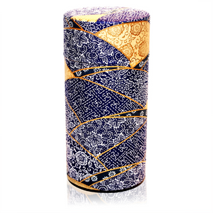 Japanese Tea Canister - Kimono Blue - Red Sparrow Tea Company