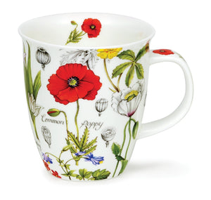 Dunoon - Mug - Floral Diary - Poppy