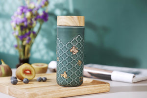 Liven Tourmaline Tumbler - Butterfly - Peacock Green & Gold