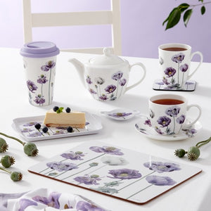 Ashdene - Purple Poppies AWM - Teapot - Red Sparrow Tea Company