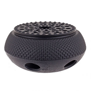 Cast Iron Tea Warmer - Fine Hobnail - Red Sparrow Tea Company
