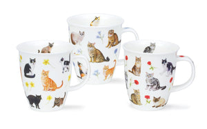 Dunoon - Mug - Flower Cats - Red