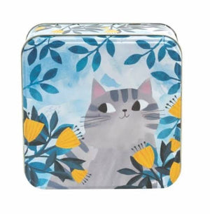 Planet Cats - Grey Cat Square Tin