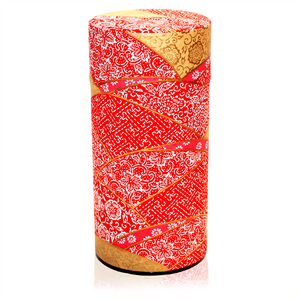 Japanese Tea Canister - Kimono Red