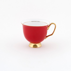 Red Teacup & Saucer XL - 375ml - Red Sparrow Tea Company