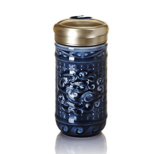 Liven Tourmaline Tumbler - Determined to Win - Sapphire Blue - Red Sparrow Tea Company