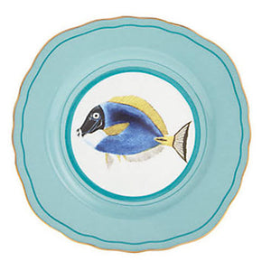 Yvonne Ellen - Cake Plate - Fancy Fish - Red Sparrow Tea Company
