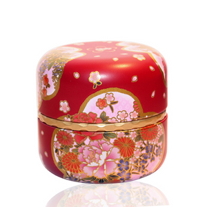 Japanese Tea Canister - Yuino - Red