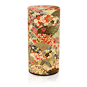 Japanese Tea Canister - Japanese Garden Black - Red Sparrow Tea Company