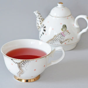 Yvonne Ellen - Cheeky Cheetah Tea For One Set - Red Sparrow Tea Company
