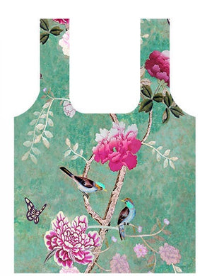 Anna Chandler - Fold Up Shopping Bag – Chinoiserie - Red Sparrow Tea Company